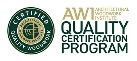 Architectural Woodwork Institute Quality Certification Program logo on About Us Page