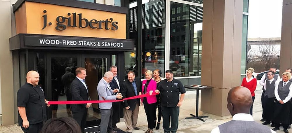 J Gilbert's Steakhouse Ribbon cutting