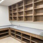 Benthack Hall wood lockers